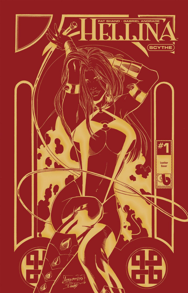 Hellina: Scythe #1 (Golden Fire Leather Cover)