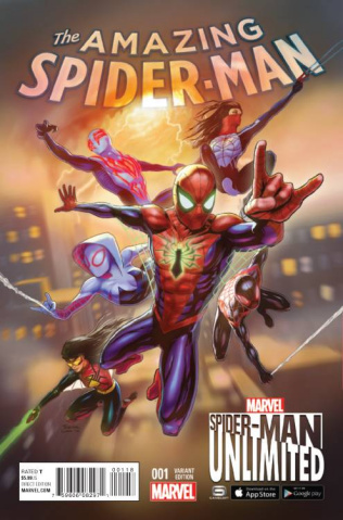 The Amazing Spider-Man #1 (Spider-Man Unlimited Game Cover)