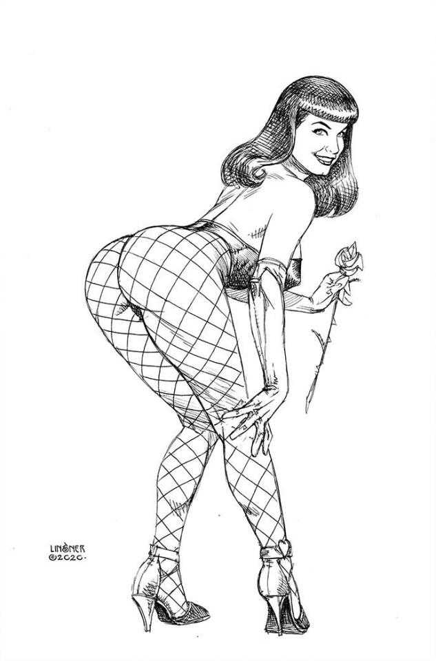 Bettie Page #5 (11 Copy Linsner B&W Virgin Cover)
