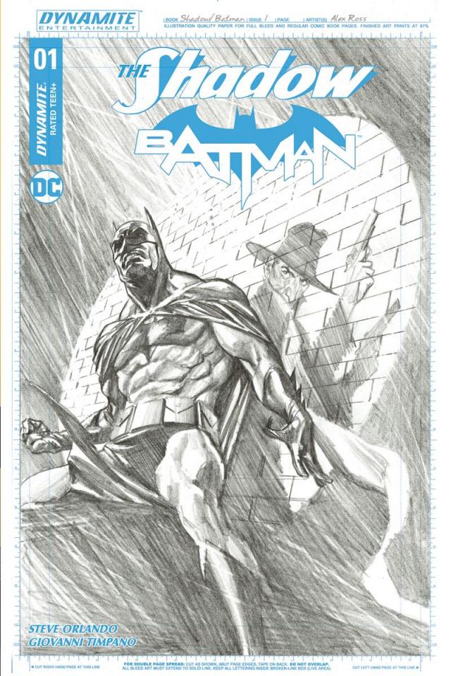The Shadow / Batman #1 (50 Copy Ross Cover)