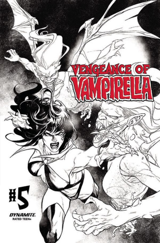 Vengeance of Vampirella #5 (15 Copy Segovia B&W Cover)