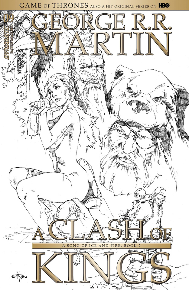 A Game of Thrones: A Clash of Kings #9 (15 Copy Rubi B&W Cover)