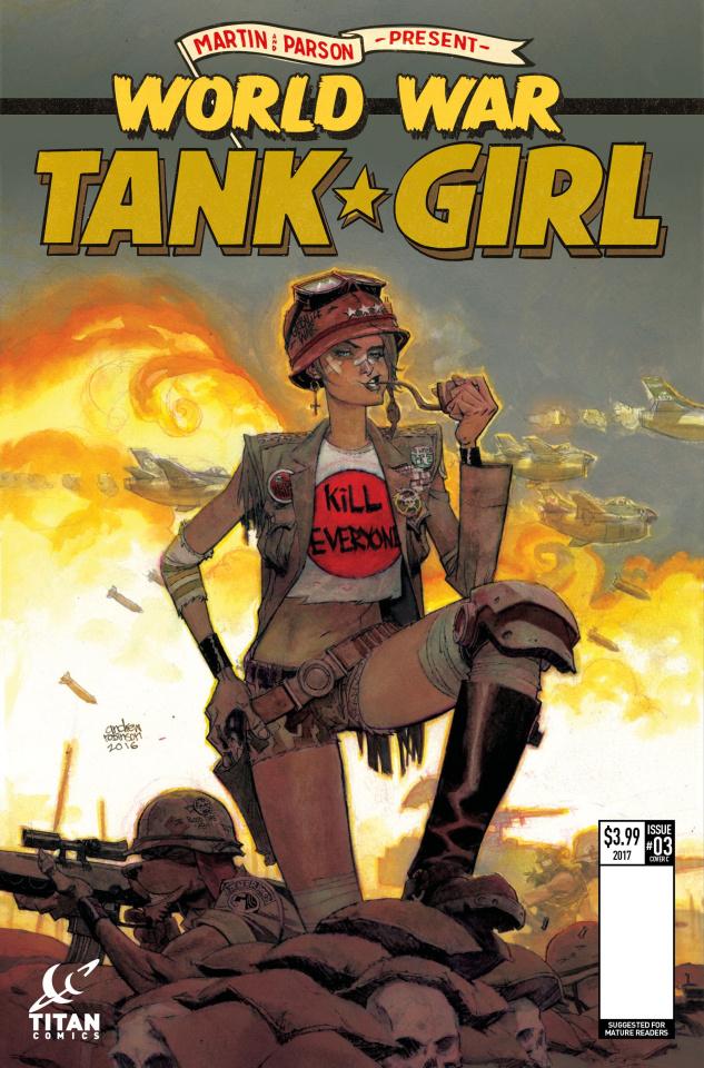 Tank Girl: World War Tank Girl #3 (Robinson Cover)
