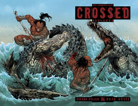Crossed: Badlands #75 (Megafauna Mayhem Cover)