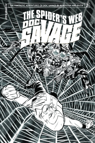 Doc Savage: The Spider's Web #2 (10 Copy Torres B&W Cover)
