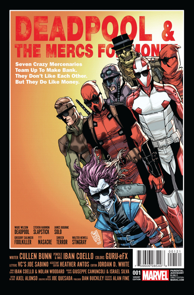 Deadpool and the Mercs For Money #1 (Camuncoli Cover)