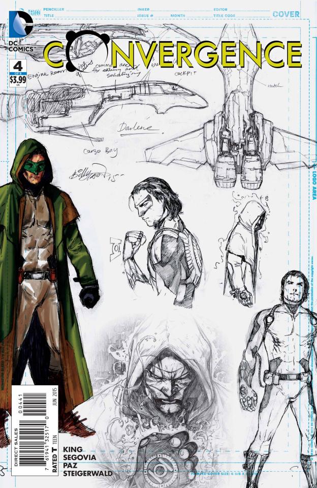 Convergence #4 (Green Lantern Sketch Cover)