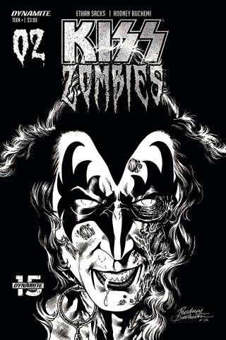KISS: Zombies #2 (30 Copy Buchemi B&W Cover)