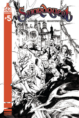 Swordquest #5 (10 Copy Lau B&W Cover)