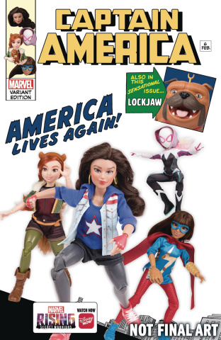Captain America #6 (Marvel Rising Action Doll Homage Cover)
