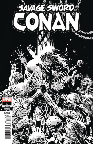 The Savage Sword of Conan #1 (Garney B&W Cover)