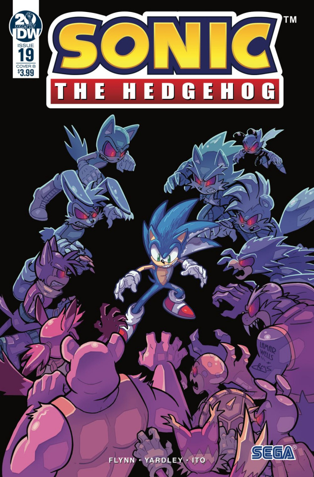 Sonic the Hedgehog #19 (Wells & Graham Cover)