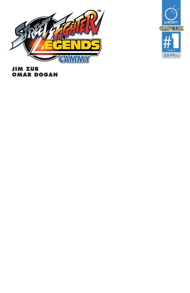 Street Fighter Legends: Cammy #1 (Blank Sketch Cover)