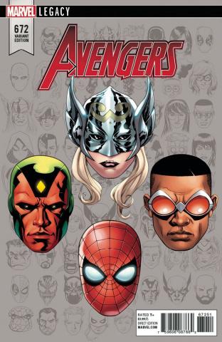 Avengers #672 (McKone Legacy Headshot Cover)