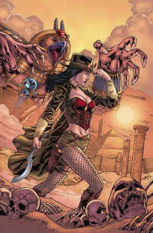 Grimm Fairy Tales: Van Helsing vs. The Mummy of Amun Ra #5 (Lima Cover)