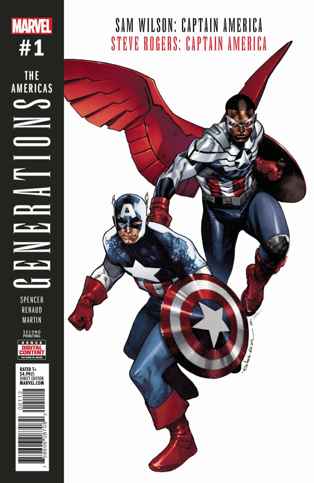 Generations: Captain Americas #1 (2nd Printing)