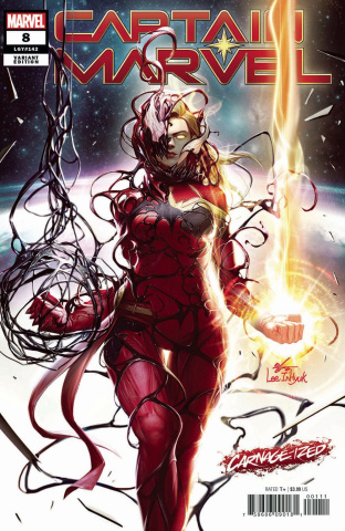 Captain Marvel #8 (Inhyuk Lee Carnage-ized Cover)