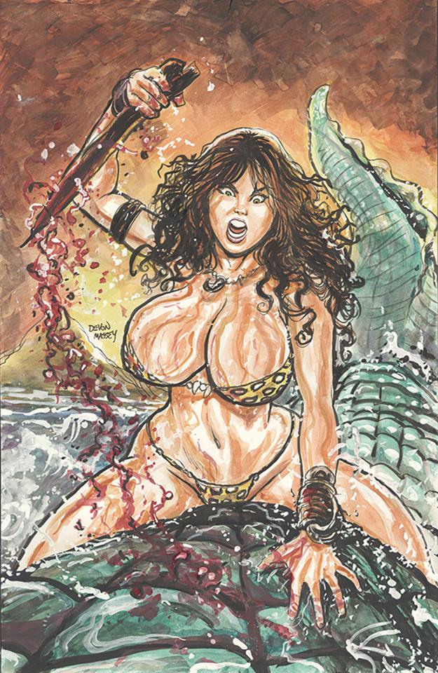 Cavewoman: Gone Fishing (Massey Cover)