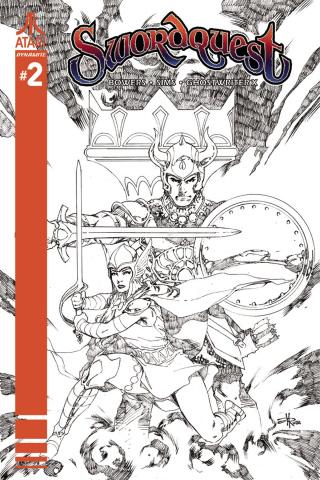 Swordquest #2 (10 Copy Rubi B&W Cover)