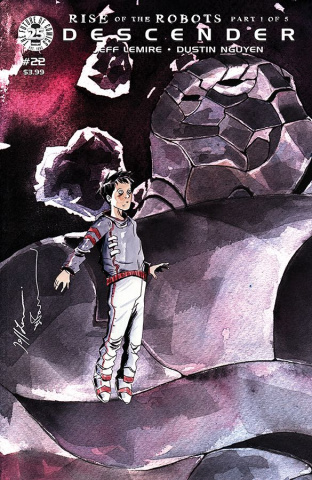 Descender #22 (Interlocking Lemire & Nguyen Cover)