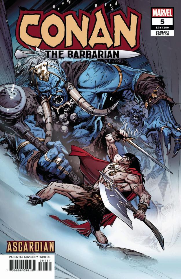 Conan the Barbarian #5 (Guice Asgardian Cover)