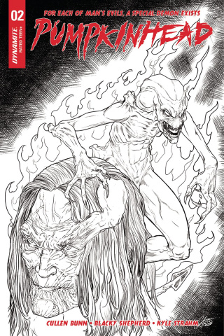 Pumpkinhead #2 (20 Copy Shepard B&W Cover)