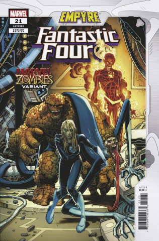Fantastic Four #21 (Adams Marvel Zombies Cover)