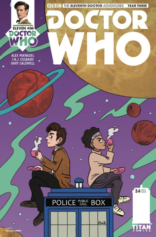 Doctor Who: New Adventures with the Eleventh Doctor, Year Three #4 (Smith Cover)