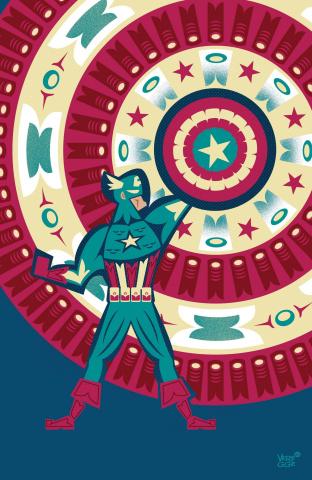 Captain America #25 (Veregge Captain America Cover)