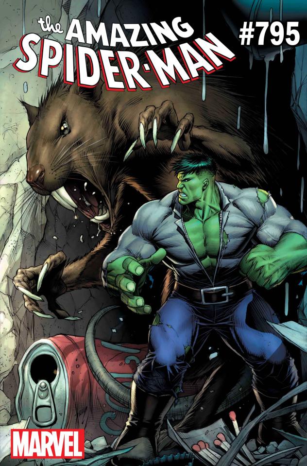 The Amazing Spider-Man #795 (Keown Hulk Cover)