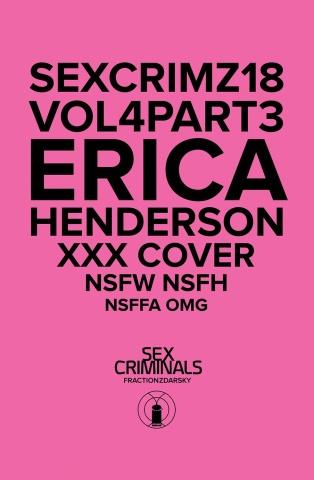 Sex Criminals #18 (XXX Erica Henderson Cover)