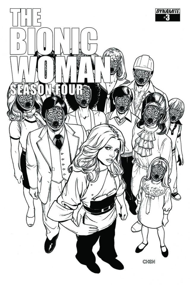 The Bionic Woman, Season Four #3 (15 Copy Chen B&W Cover)