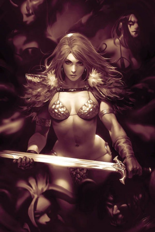 Red Sonja: Age of Chaos #2 (11 Copy Chew Monochrome Virgin Cover)