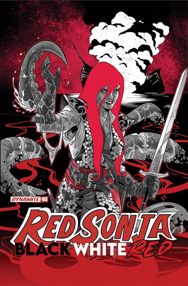 Red Sonja: Black, White, Red #3 (Izaakse Cover)