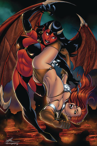 Red Sonja: Age of Chaos #4 (Garza Virgin Cover)