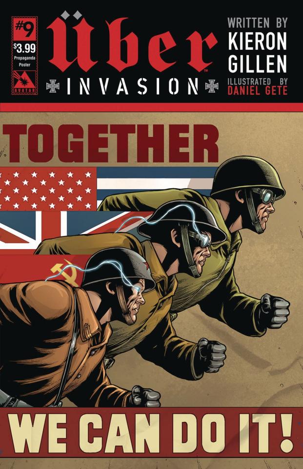 Über: Invasion #9 (Propaganda Poster Cover)