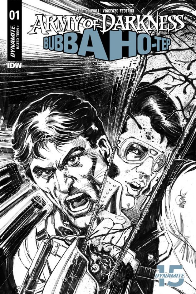 Army of Darkness / Bubba Ho-Tep #1 (40 Copy Mandrake B&W Cover)