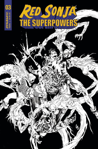 Red Sonja: The Superpowers #3 (10 Copy Lau B&W Cover)
