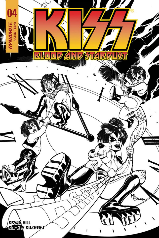 KISS: Blood and Stardust #4 (30 Copy Sanapo B&W Cover)