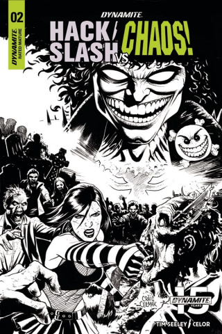Hack/Slash vs. Chaos! #2 (10 Copy Cermak B&W Cover)