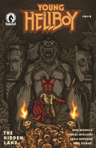 Young Hellboy: The Hidden Land #4 (Carpenter Cover)