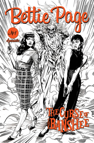 Bettie Page and The Curse of the Banshee #1 (10 Copy Mooney Pencils Cover)