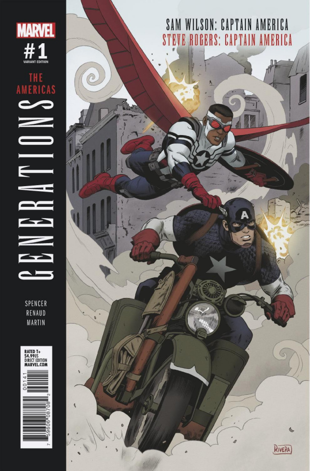 Generations: Captain Americas #1 (Rivera Cover)