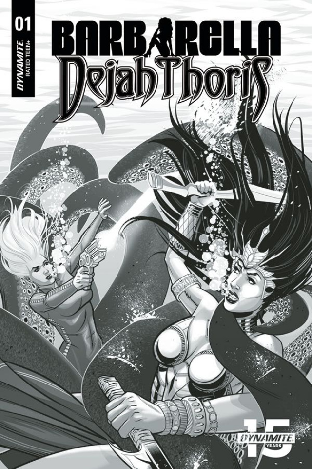 Barbarella / Dejah Thoris #1 (40 Copy Feister B&W Cover)