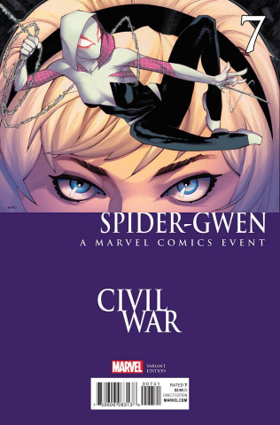 Spider-Gwen #7 (Stevens Civil War Cover)