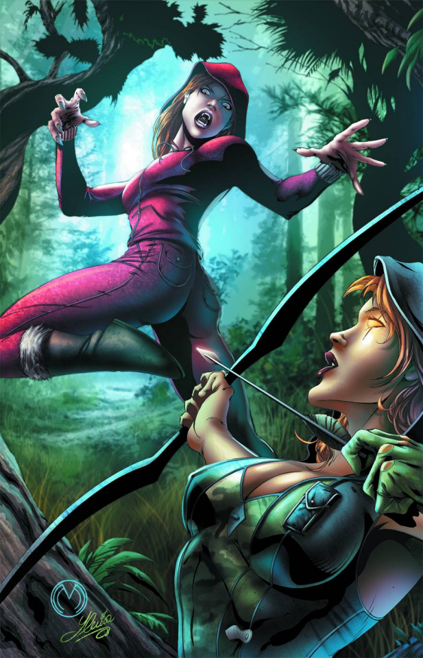 Grimm Fairy Tales: Robyn Hood vs. Red Riding Hood #1 (Mychaels Cover)