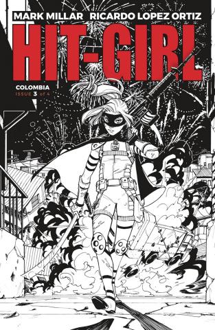 Hit-Girl #3 (B&W Reeder Cover)
