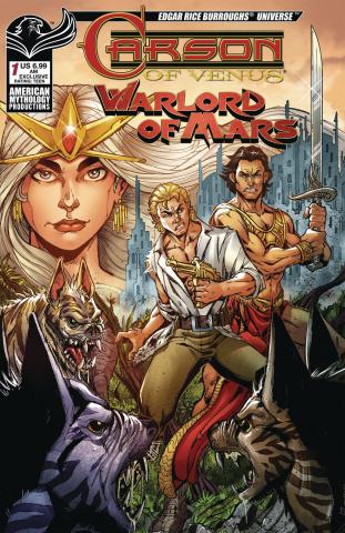 Carson of Venus / Warlord of Mars #1 (Calzada Cover)