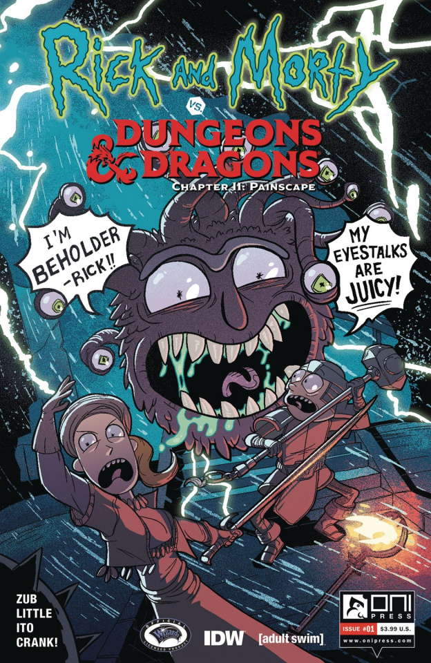 Rick and Morty vs. Dungeons & Dragons II: Painscape #1 (Zub Cover)