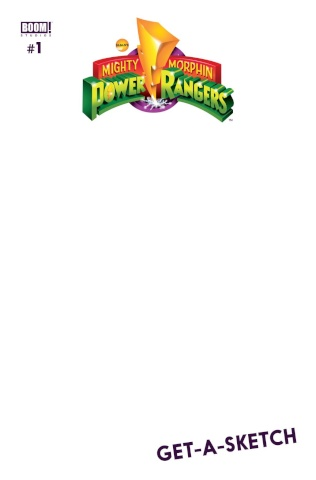 Mighty Morphin' Power Rangers #1 (Unlock Blank Cover)